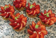 Boulangerie Patisserie Saint-Honoré. Tartelette à la fraise