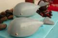 Chocolats Morand. Macarons. Baleine en chocolat