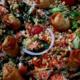 Traiteur Hirzel. Salade de vermicelles aux crevettes et nems