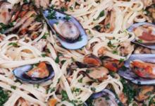 Traiteur Hirzel. Linguini aux fruits de mer