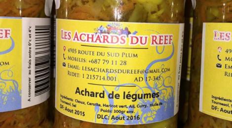 Les achards du Reef. Achard de légumes
