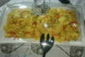 Mitic Traiteur. Salade d'ananas, poivrons et tomates.