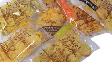 Les Chips de l'Aveyron. Chips piment d'espelette au chaudron