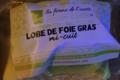 La Ferme de l'Ouest . Lobe de Foie gras de canard mi-cuit