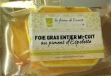 La Ferme de l'Ouest . Foie gras de canard entier mi-cuit au piment d'espelette