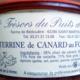 Trésors du Puits du Sart. Terrine de canard au foie gras