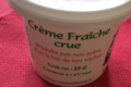 Ferme Cimetière. Crème fraiche crue