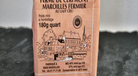 ferme de Cerfmont. Maroilles fermier quart