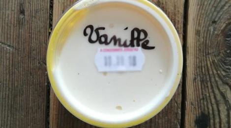 Ferme de Saint Ghislain Marlier. Glace vanille