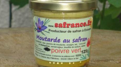 Safrance. moutarde poivre vert safran