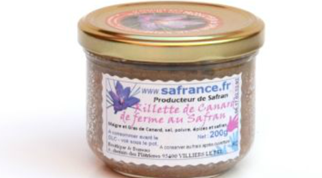 Safrance. rillettes de canard au safran