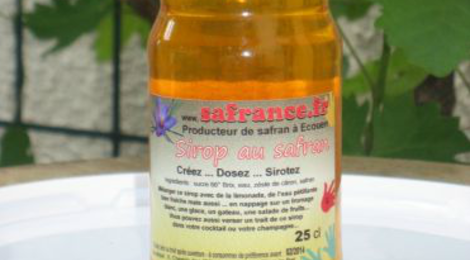 Safrance. sirop de sucre au safran