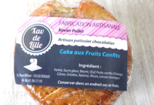 Xav de Lille. Mini cake aux fruits confits