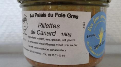 Palais du foie gras. Rillettes de canard