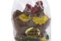 Les Chocolats Diot. Couple de Poules en chocolat
