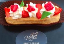 La Boulangerie Sainte Périne. Eclair à la fraise
