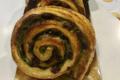 Boulangerie De Belles Manières. roulé Pate de pistache et cranberry.