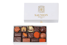 Chocolaterie Saunion. Etuis chocolats assortis