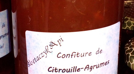 Confiture de citrouille/agrumes au miel - Metaczyk'api - Quincy-Voisins (77)