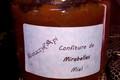 Confiture de mirabelles au miel - 400 grs