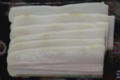 Salaisons Guèze. Lard gras en tranches