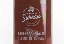 La Maison du Sureau. Confiture de rhubarbe, fraises et fleurs de sureau