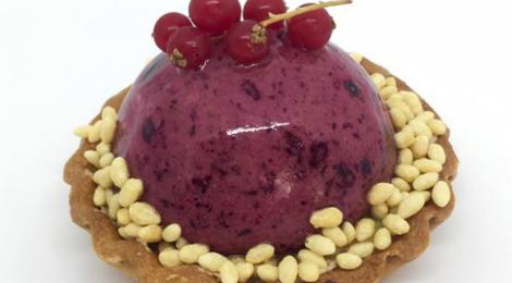 Boulangerie Forestier. Tartelette myrtilles et croustillant chocolat blanc