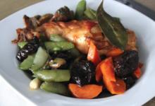 Jeusselin. Cuisse de lapin aux légumes
