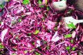 Lastre Sans Apostrophe. Salade de chou rouge