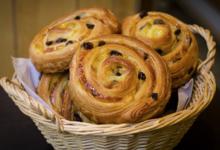 Boulangerie Blavette. Pains aux raisins