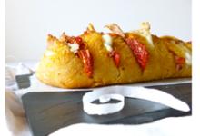 Baguette grillée mozarella, tomates séchées et sardines Le Trésor des Dieux