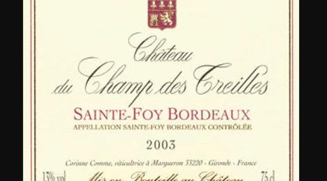 Chateau Du Champ Des Treilles. Petit Champ Rouge
