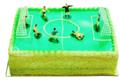 Le gâteau Doré Fiesta. Gâteau terrain de foot