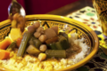 Zerda. Couscous traditionnel sans viande