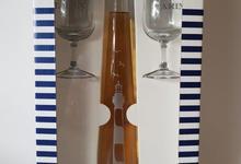 Coffret Marinière Pineau des Charentes Blanc + 2 verres sérigraphiés