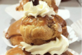 Boulangerie Petit Jean. Religieuse au café