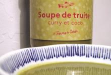La ferme du Ciron. Soupe de Truite curry et coco