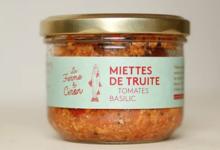 La ferme du Ciron. Miettes de truite tomate basilic