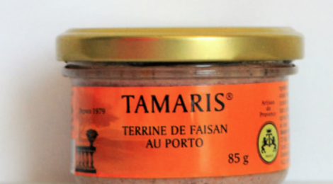 Tamaris. Terrine de faisan au porto