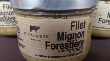 Ferme angus. Filet mignon forestière