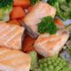 Poêlée de saumon aux petits légumes