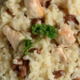 Risotto  girolles poulet
