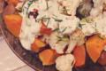 Salades de butternuts rôtis