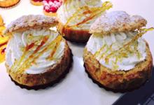 Chou crumble, crème caramel beurre salé chantilly