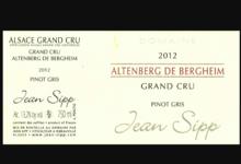 Domaine Jean Sipp. Pinot Gris Grand Cru Altenberg