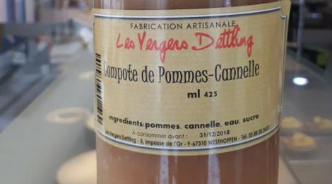Vergers Dettling. Compote de Pomme cannelle