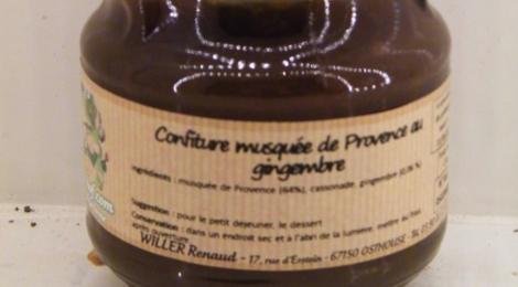 Willers-hof. Confiture musquée de Provence au gingembre