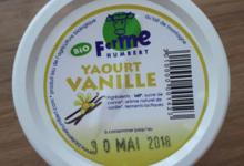 Ferme Humbert. Yaourt aromatisé vanille