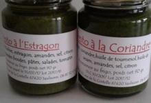 Vergers de la Marande. Pesto à la coriandre