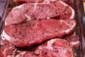 Wittmann-Brand. Steak d'agneau mariné